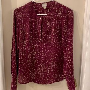 Converse one star Size SX Plum blouse